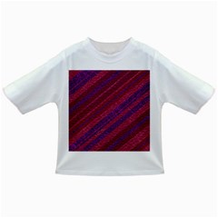 Maroon Striped Texture Infant/toddler T Shirts