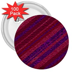 Maroon Striped Texture 3  Buttons (100 Pack)