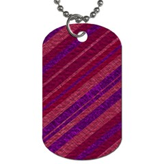 Maroon Striped Texture Dog Tag (two Sides) by Mariart