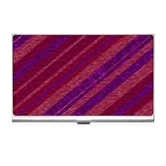 Maroon Striped Texture Business Card Holders