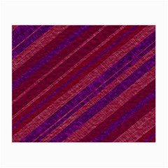 Maroon Striped Texture Small Glasses Cloth by Mariart