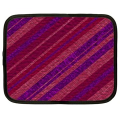 Maroon Striped Texture Netbook Case (xxl)  by Mariart