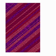 Maroon Striped Texture Large Garden Flag (two Sides) by Mariart