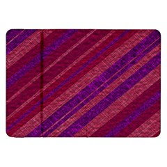 Maroon Striped Texture Samsung Galaxy Tab 8 9  P7300 Flip Case by Mariart