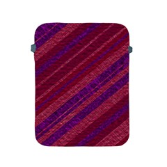Maroon Striped Texture Apple Ipad 2/3/4 Protective Soft Cases by Mariart