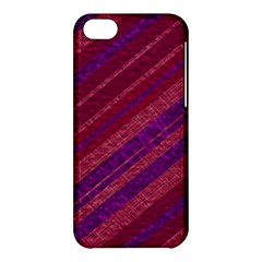 Maroon Striped Texture Apple Iphone 5c Hardshell Case by Mariart