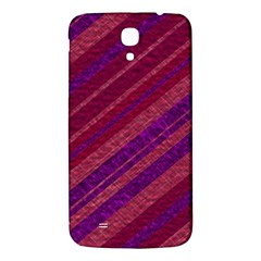Maroon Striped Texture Samsung Galaxy Mega I9200 Hardshell Back Case by Mariart