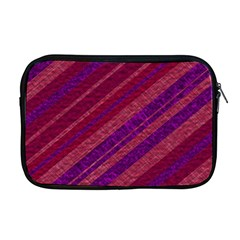 Maroon Striped Texture Apple Macbook Pro 17  Zipper Case by Mariart