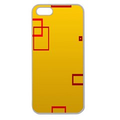 Overlap Squares Orange Plaid Red Apple Seamless Iphone 5 Case (clear) by Mariart