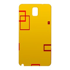Overlap Squares Orange Plaid Red Samsung Galaxy Note 3 N9005 Hardshell Back Case by Mariart