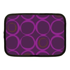 Original Circle Purple Brown Netbook Case (medium)  by Mariart