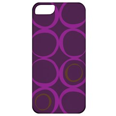 Original Circle Purple Brown Apple Iphone 5 Classic Hardshell Case by Mariart