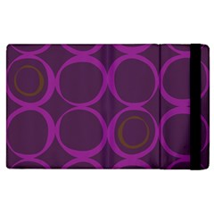 Original Circle Purple Brown Apple Ipad 3/4 Flip Case by Mariart
