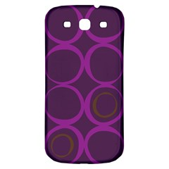 Original Circle Purple Brown Samsung Galaxy S3 S Iii Classic Hardshell Back Case by Mariart