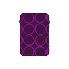 Original Circle Purple Brown Apple Ipad Mini Protective Soft Cases by Mariart
