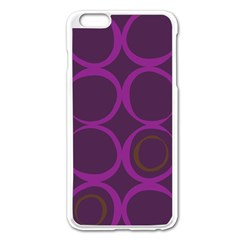 Original Circle Purple Brown Apple Iphone 6 Plus/6s Plus Enamel White Case by Mariart