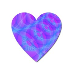 Original Purple Blue Fractal Composed Overlapping Loops Misty Translucent Heart Magnet by Mariart