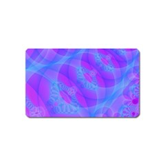 Original Purple Blue Fractal Composed Overlapping Loops Misty Translucent Magnet (name Card) by Mariart