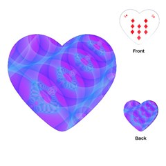 Original Purple Blue Fractal Composed Overlapping Loops Misty Translucent Playing Cards (heart)  by Mariart