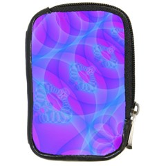Original Purple Blue Fractal Composed Overlapping Loops Misty Translucent Compact Camera Cases