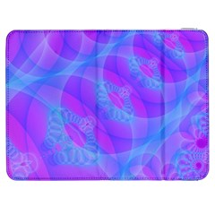 Original Purple Blue Fractal Composed Overlapping Loops Misty Translucent Samsung Galaxy Tab 7  P1000 Flip Case by Mariart
