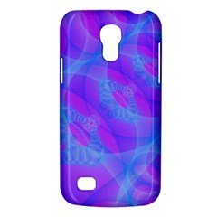 Original Purple Blue Fractal Composed Overlapping Loops Misty Translucent Galaxy S4 Mini by Mariart
