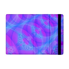 Original Purple Blue Fractal Composed Overlapping Loops Misty Translucent Ipad Mini 2 Flip Cases by Mariart