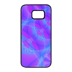 Original Purple Blue Fractal Composed Overlapping Loops Misty Translucent Samsung Galaxy S7 Edge Black Seamless Case by Mariart