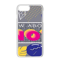 Polka Dots Waves Leaf Circle Behance Feelings Beauty Apple Iphone 7 Plus White Seamless Case by Mariart