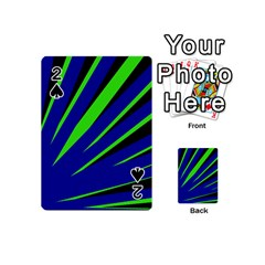 Rays Light Chevron Blue Green Black Playing Cards 54 (mini)  by Mariart