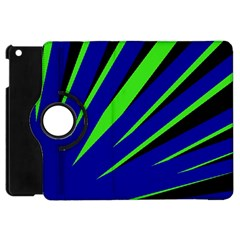 Rays Light Chevron Blue Green Black Apple Ipad Mini Flip 360 Case by Mariart