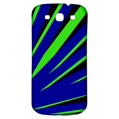 Rays Light Chevron Blue Green Black Samsung Galaxy S3 S Iii Classic Hardshell Back Case by Mariart
