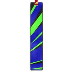 Rays Light Chevron Blue Green Black Large Book Marks by Mariart