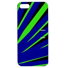 Rays Light Chevron Blue Green Black Apple Iphone 5 Hardshell Case With Stand by Mariart