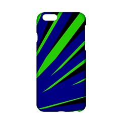 Rays Light Chevron Blue Green Black Apple Iphone 6/6s Hardshell Case by Mariart