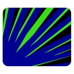 Rays Light Chevron Blue Green Black Double Sided Flano Blanket (small)  by Mariart