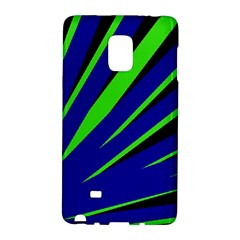 Rays Light Chevron Blue Green Black Galaxy Note Edge by Mariart