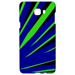 Rays Light Chevron Blue Green Black Samsung C9 Pro Hardshell Case  by Mariart