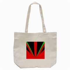 Rays Light Chevron Green Red Black Tote Bag (cream) by Mariart