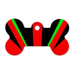 Rays Light Chevron Green Red Black Dog Tag Bone (one Side)