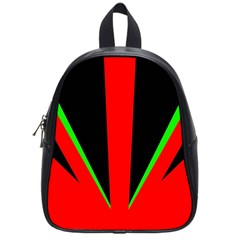 Rays Light Chevron Green Red Black School Bags (small)  by Mariart