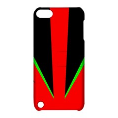 Rays Light Chevron Green Red Black Apple Ipod Touch 5 Hardshell Case With Stand by Mariart