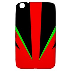 Rays Light Chevron Green Red Black Samsung Galaxy Tab 3 (8 ) T3100 Hardshell Case  by Mariart