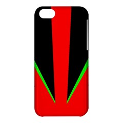 Rays Light Chevron Green Red Black Apple Iphone 5c Hardshell Case by Mariart