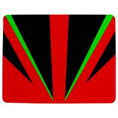 Rays Light Chevron Green Red Black Jigsaw Puzzle Photo Stand (rectangular) by Mariart
