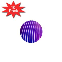Rays Light Chevron Blue Purple Line Light 1  Mini Magnet (10 Pack)  by Mariart