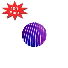 Rays Light Chevron Blue Purple Line Light 1  Mini Magnets (100 Pack)  by Mariart