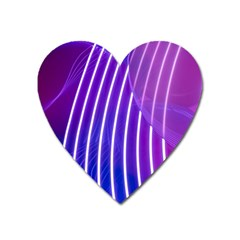 Rays Light Chevron Blue Purple Line Light Heart Magnet by Mariart