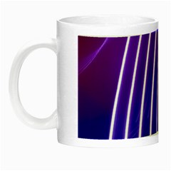 Rays Light Chevron Blue Purple Line Light Night Luminous Mugs by Mariart
