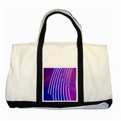 Rays Light Chevron Blue Purple Line Light Two Tone Tote Bag by Mariart